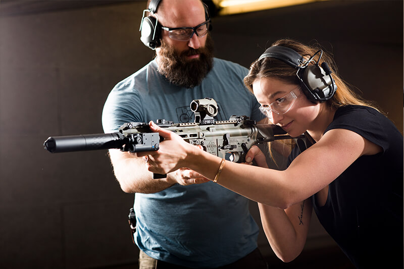 private rifle and handgun training session bellevue